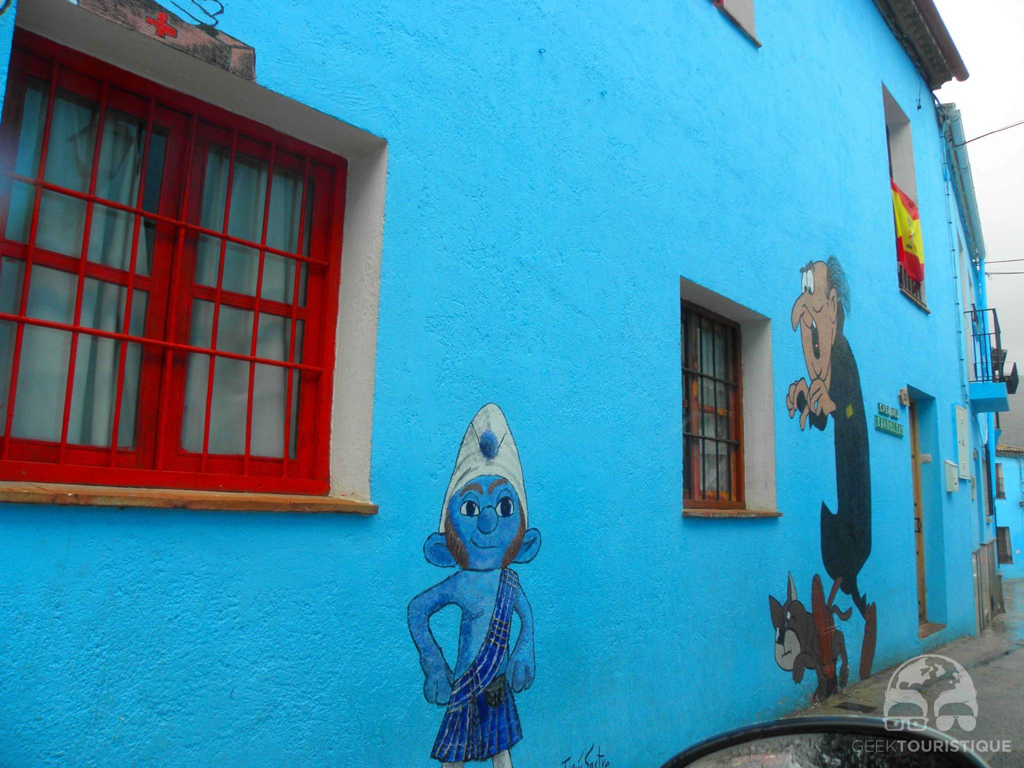 J zcar le plus schtroumpf des villages andalou nos - Schtroumpf maison ...